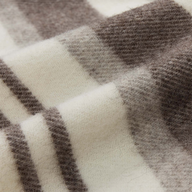 Kampai Wool Blanket cream & grey, 100% new wool | High quality homewares