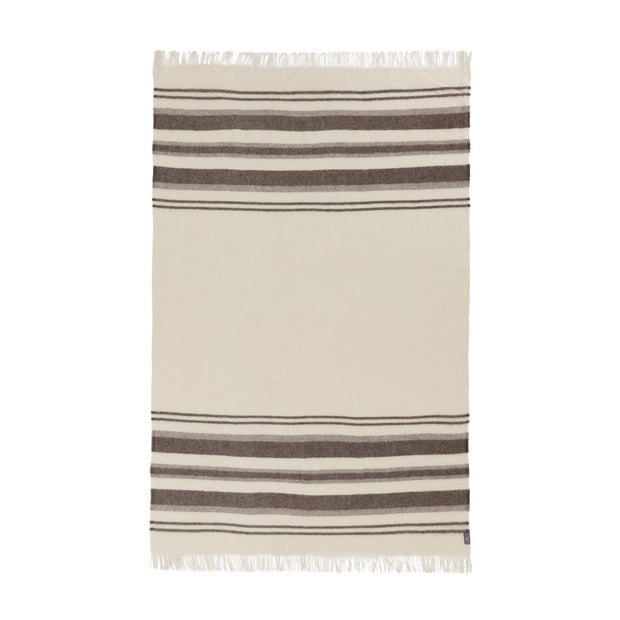 Kampai Wool Blanket cream & grey, 100% new wool | URBANARA wool blankets