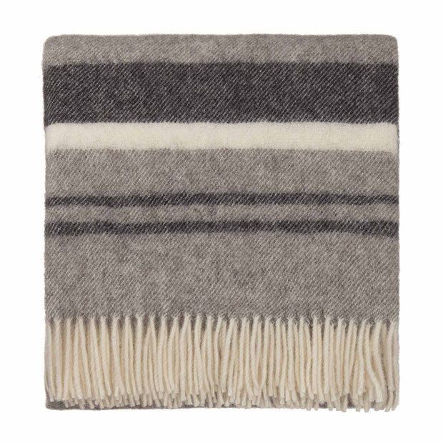 Kampai blanket, grey & cream, 100% new wool