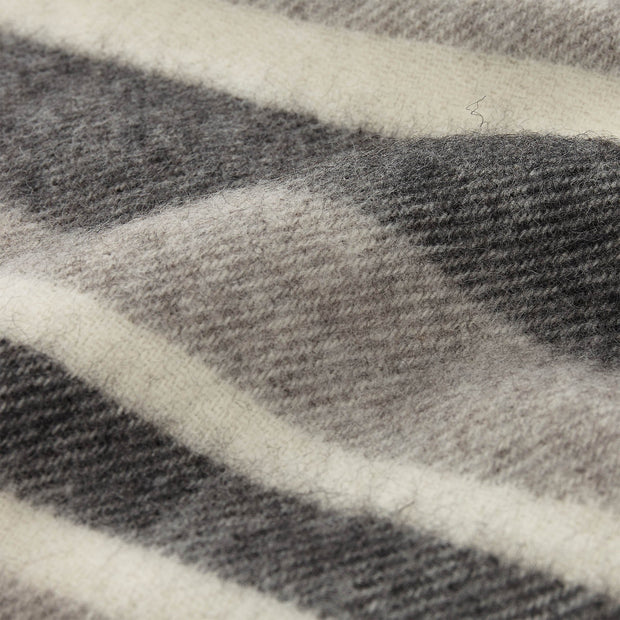 Kampai blanket, grey & cream, 100% new wool |High quality homewares