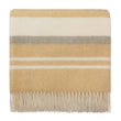 Kampai Blanket mustard & olive green & off-white, 100% new wool