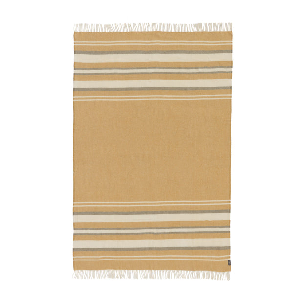 Kampai Blanket in mustard & olive green & off-white | Home & Living inspiration | URBANARA