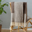 Karby Wool Blanket in cream & brown | Home & Living inspiration | URBANARA