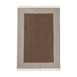 Karby Wool Blanket cream & brown, 100% new wool | URBANARA wool blankets