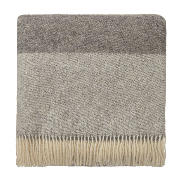 Karby Wool Blanket [Charcoal/Light grey]