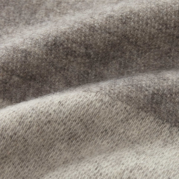 Karby blanket, charcoal & light grey, 100% new wool | URBANARA wool blankets