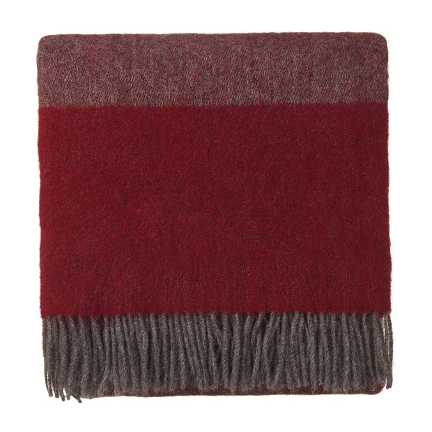Karby Wool Blanket red & grey, 100% new wool