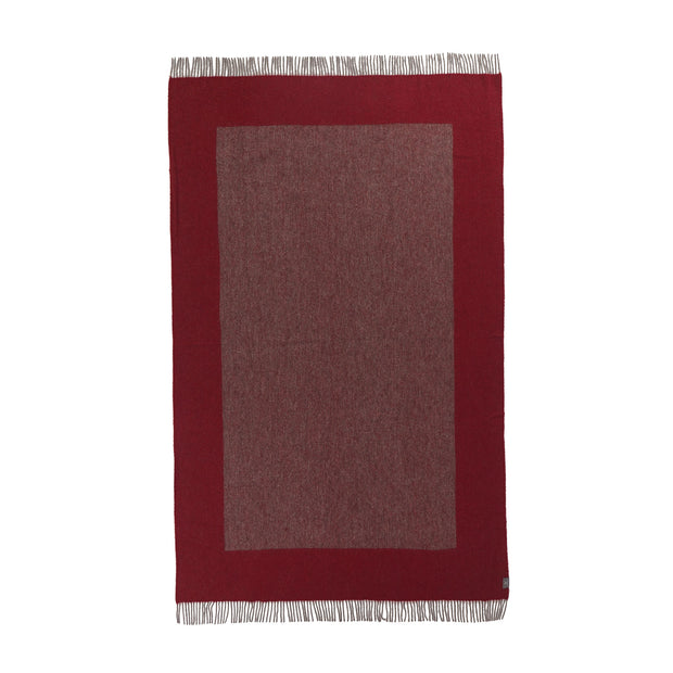 Karby Wool Blanket red & grey, 100% new wool | URBANARA wool blankets
