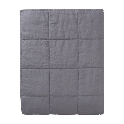 Karlay Quilt charcoal, 100% linen