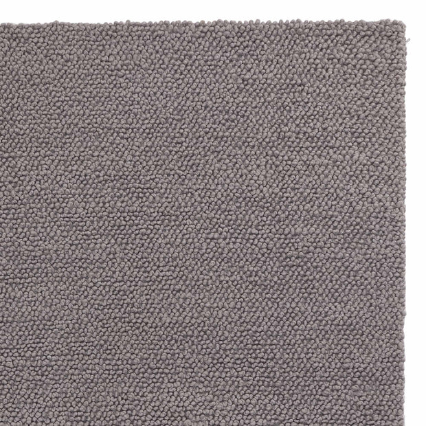 Karnu rug, grey, 75% wool & 25% cotton