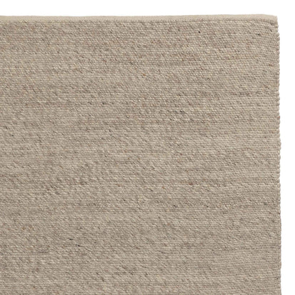 Kesar runner, cream & grey & sand, 60% wool & 15% jute & 25% cotton