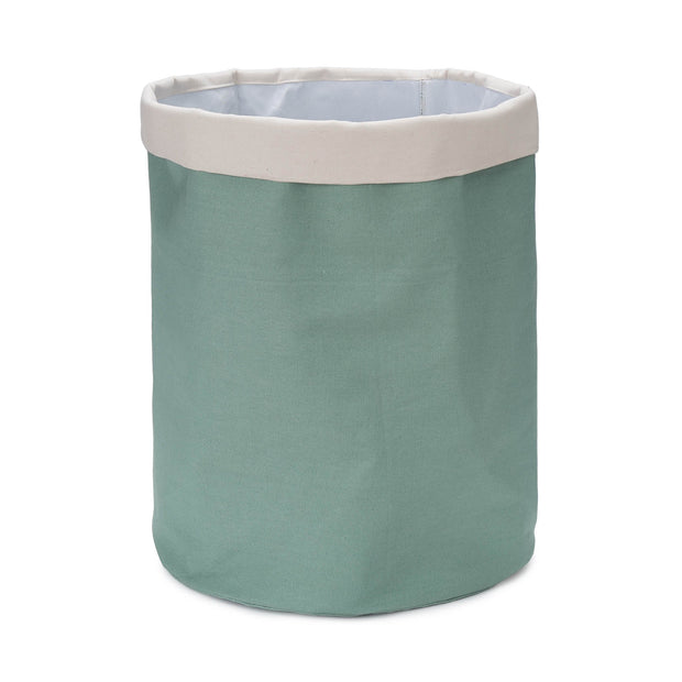 Khuwa Storage green grey & off-white, 100% cotton | URBANARA storage baskets
