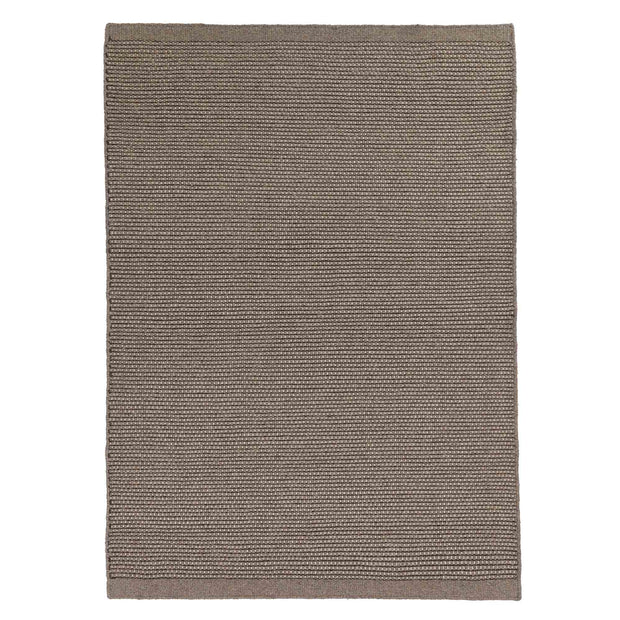 Kolong Rug grey brown & off-white, 100% new wool | URBANARA wool rugs