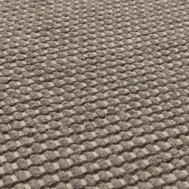 Kolong Rug grey brown & off-white, 100% new wool | High quality homewares