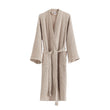Kotra Bathrobe beige & ivory, 50% linen & 50% cotton