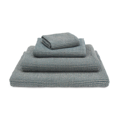 Kotra Towel Collection grey green & natural, 50% linen & 50% cotton