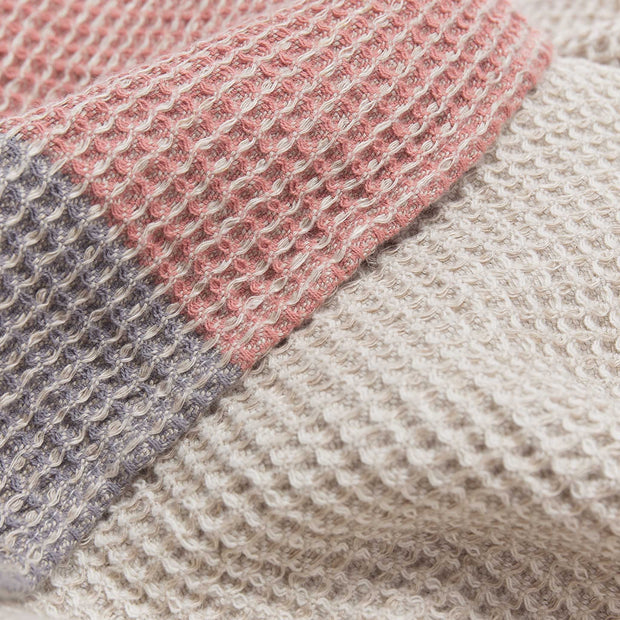 Kotra Towel Collection dusty pink & natural & grey, 50% linen & 50% cotton | Find the perfect linen towels