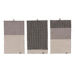 Kotra Towel Collection grey & natural & black, 50% linen & 50% cotton | URBANARA linen towels