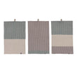 Kotra Towel Collection green grey & natural & grey, 50% linen & 50% cotton | URBANARA linen towels