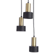 Kurchi pendant lamp, black & brass, 100% iron & 100% stainless steel | URBANARA pendant lamps