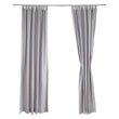 Largo curtain, light grey, 100% cotton |High quality homewares