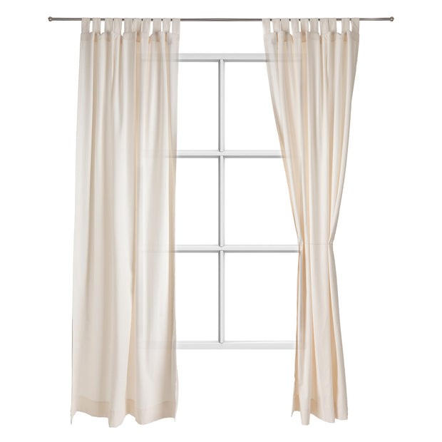 Largo curtain, natural white, 100% cotton