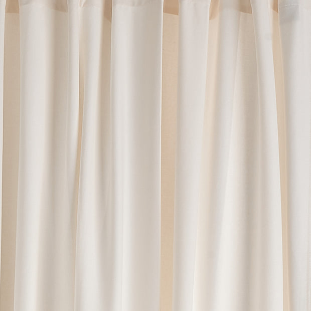 Largo Curtain Set natural white, 100% cotton | High quality homewares