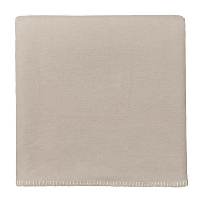 Laussa Blanket beige & off-white, 100% organic cotton