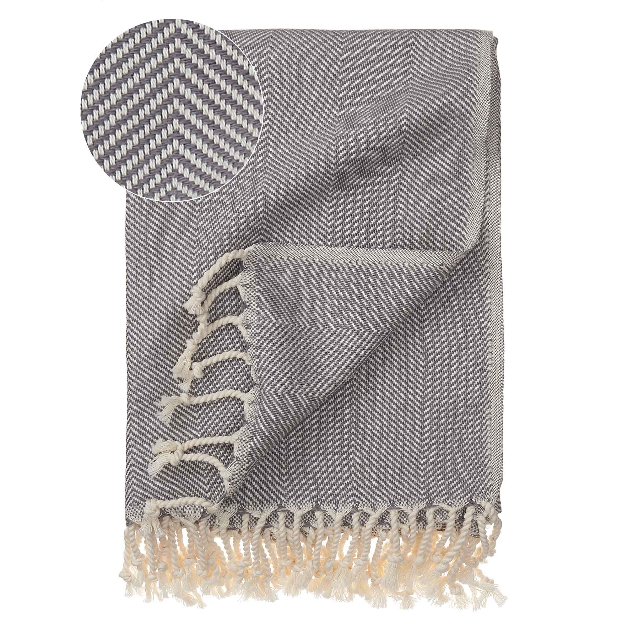 Laza Hammam Towel [Grey/White]