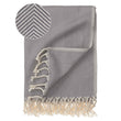 Laza Hammam Towel grey & white, 100% cotton