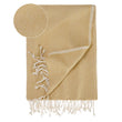 Laza Hammam Towel mustard & white, 100% cotton