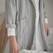 Antero Bathrobe light grey, 55% cotton & 45% linen | URBANARA bathrobes