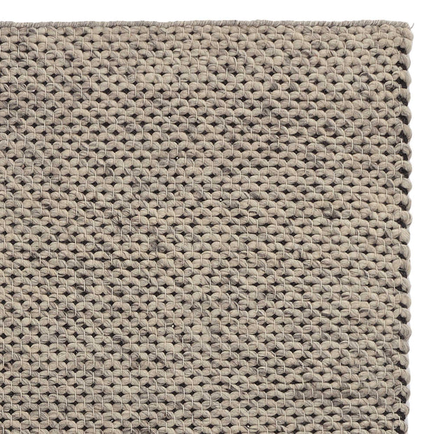 Lona rug, grey melange & ivory, 70% wool & 30% cotton