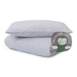 Louredi Mini Bed Linen light grey melange, 100% organic cotton