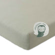 Louredi Mini Fitted Sheet green grey melange, 100% organic cotton