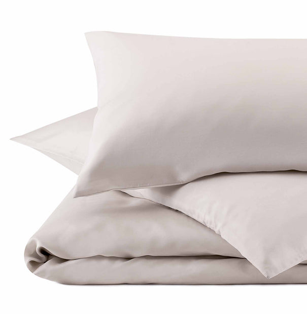 Lucca Pillowcase taupe, 100% silk