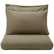 Luz pillowcase, olive green, 100% cotton