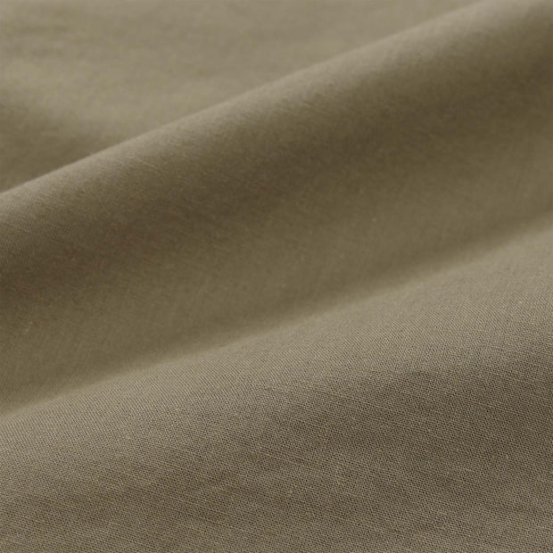 Luz pillowcase, olive green, 100% cotton | URBANARA cotton bedding