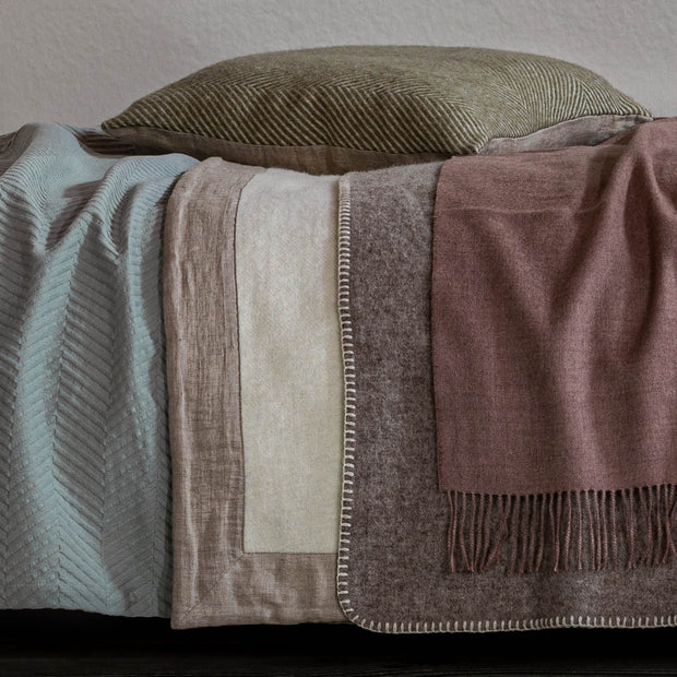 Naggu Blanket in off-white & natural | Home & Living inspiration | URBANARA