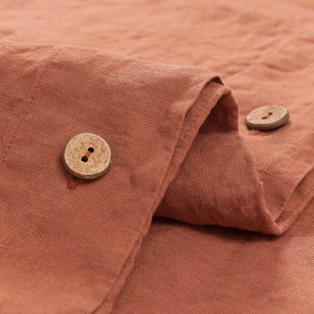 Mafalda Linen Bed Linen terracotta, 100% linen | High quality homewares