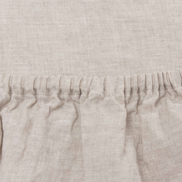 Mafalda Fitted Sheet natural, 100% linen | URBANARA fitted sheets