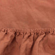 Mafalda Fitted Sheet terracotta, 100% linen | URBANARA fitted sheets