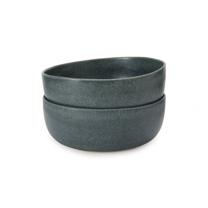 Malhou Cereal Bowl Set grey green, 100% stoneware