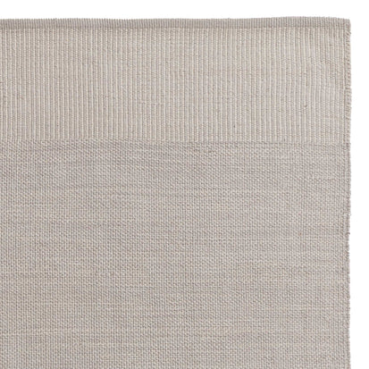 Mandir Rug grey & natural white, 100% cotton