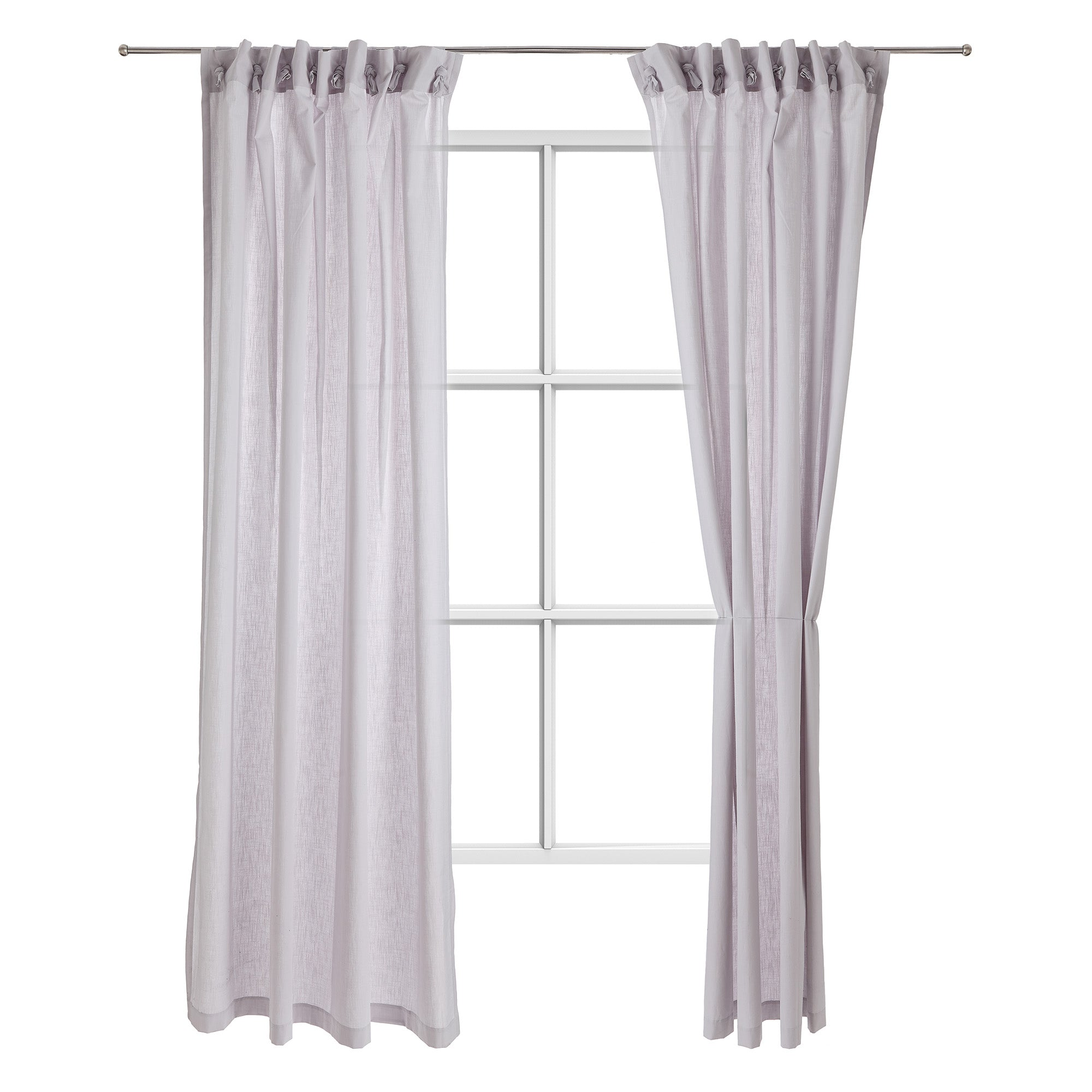 Maninho cotton curtain [Silver grey]