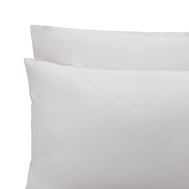 Manteigas pillowcase, silver grey, 100% organic cotton | URBANARA percale bedding