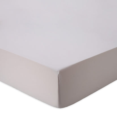Manteigas fitted sheet, silver grey, 100% organic cotton