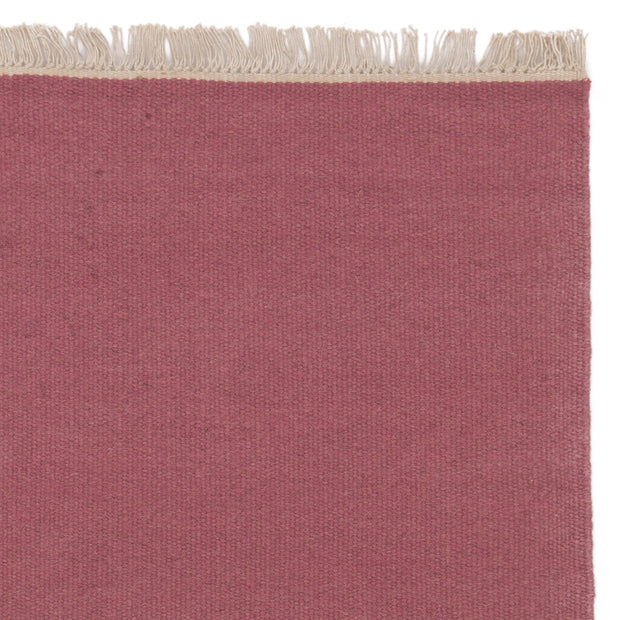 Manu rug, raspberry, 50% new wool & 50% cotton