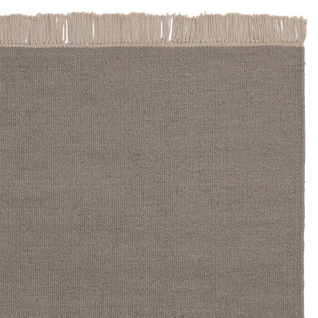 Manu rug, light grey, 50% new wool & 50% cotton