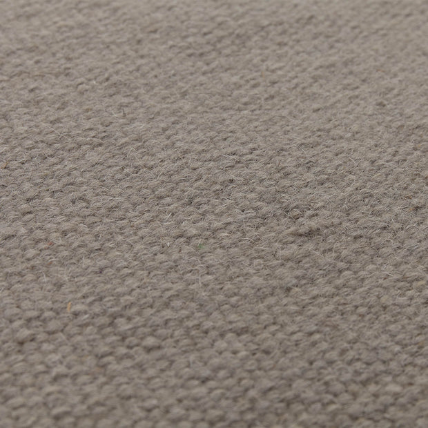 Manu runner, light grey, 100% new wool & 100% cotton |High quality homewares